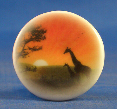 """1"""" Porcelain China Button --  African Sunrise"""