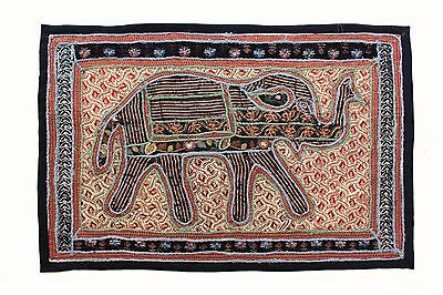 Elephant Tapestry Antique Art Indian Patchwork Wall Hanging Christmas Gift B125