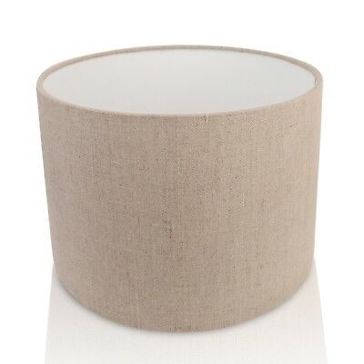 Irish Linen Oatmeal Drum / Cylinder Pendant / Ceiling Light / Table Lampshade