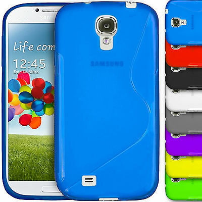 S-Line Gel Silicone Fitted Skin Case TPU Cover For Samsung Galaxy S4 S5 Mini