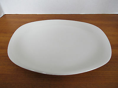 VINTAGE TRUE CHINA IMPROMPTU BY IROQUOIS BEN SEIBEL WHITE SERVING PLATTER PLATE