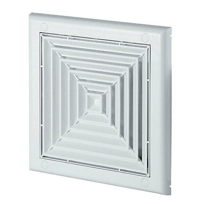 Ceiling Air Vent Grille 190mm x 190mm / 100mm with Shutter Ventilation Cover