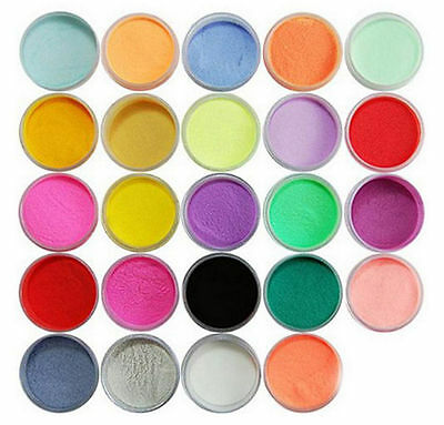 Superior Durable 24Color Acrylic Powder Dust Carving Pigment Nail Art Decoration