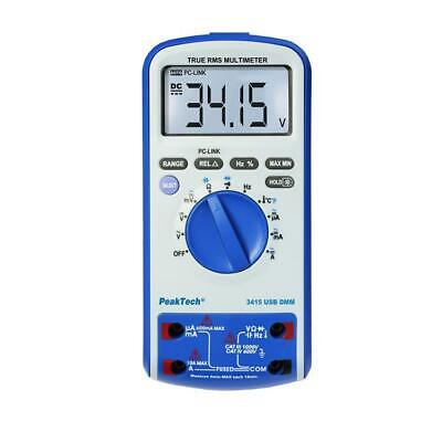 PeakTech 3415 Digital USB Multimeter Messgerät Meter Messer Digitalmultimeter