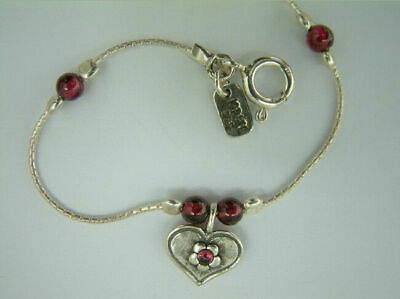 Shablool Bracelet Garnet Red Sterling Silver Ladies