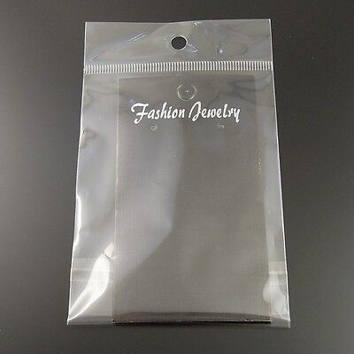100PCS PVC Black Jewelry Case Earring Display Hanging Card With Bag 14*7cm Sale