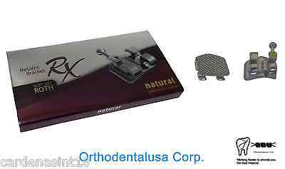 Rx Natural Orthodontic Bracket Roth .022'' H 3,4,5 Mim  Microetched Mesh Base