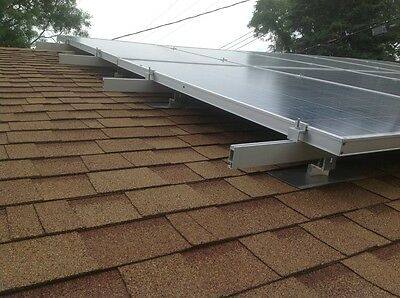 Solar panel mounting system for shingle roof, for 3 full size panel