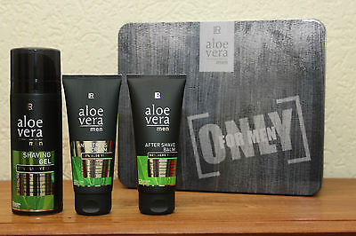 LR Aloe Vera Men Set Rasiergel After Shave Anti Stress Creme + Geschenkbox