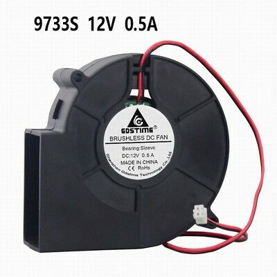 GDT 97mm x 33m Blower Fan DC 12V 2Pin 97x33mm Brushless Computer  Cooling Fan