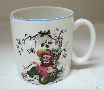 Antique Children's Cup Lord Nelson England  Miss Muffet w Spider ABC T36