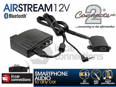 Bluetooth streaming via AUX iPhone iPod iPad car stereo Connects2 AIRSTREAM12V