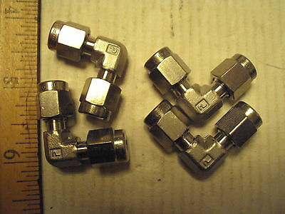 "2-2 EBZ-SS Parker CPI 1/8"" tube Union Elbow Connector fitting 316 ss new"