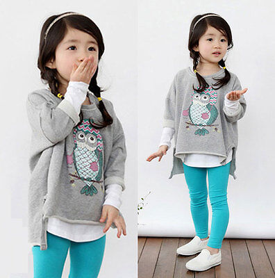 Fashion New Kids Toddlers Clothes Girls Sweater Pullover Tops T-shirt Ages 3-8Y