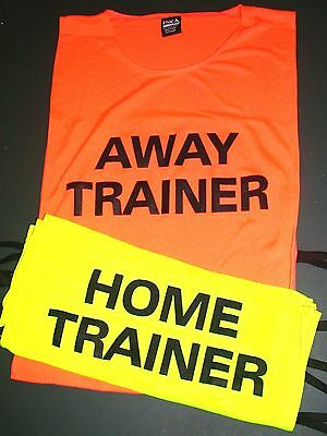 New A Pair of Home and Away Trainers Vests Printed Both Sides Fits Adult to XL