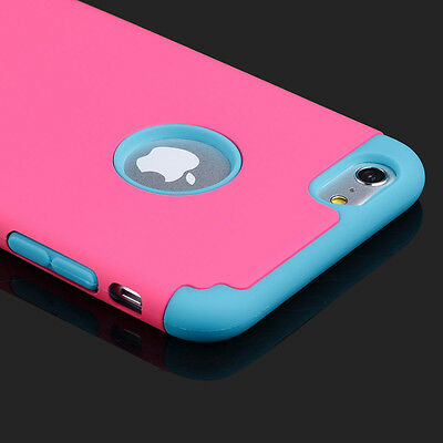 Shockproof Rugged Hybrid Rubber Hard Cover Case For iPhone 7 6 6S Plus Samsung