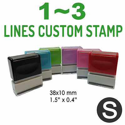 1~3 Lines, Size S, Custom Pre-Inked Rubber Stamp, Personalized Text, #751101S