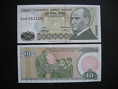 TURKEY  10 Lira 1970 (1979)  (P192)  UNC