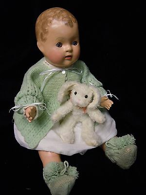 Vintage  Composition  Baby Doll  1930's - 40's   Restored - Precious!