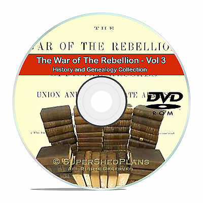 The Civil War of the Rebellion, Vol3 Fully Detailed History Books DVD CD V88