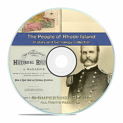 Rhode Island RI, Civil War, Family Tree History Genealogy Books 125 DVD CD B12