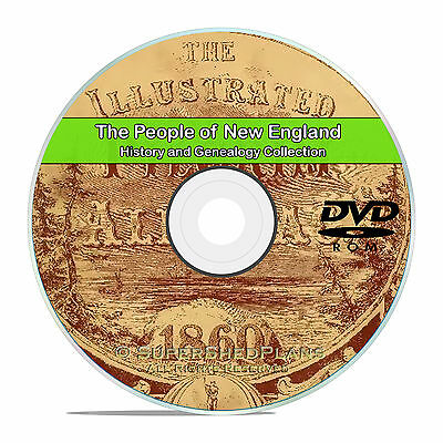 New England People, Family Tree History and Genealogy 157 Books DVD CD B24