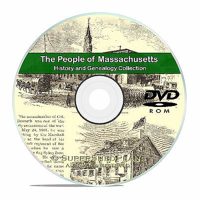 Massachusetts MA, People Family Tree History & Genealogy 500 Books DVD CD B06