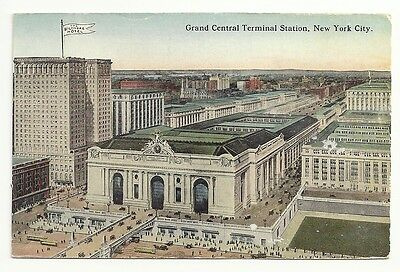 Grand Central Terminal Station New York City Unposted Vintage Postcard