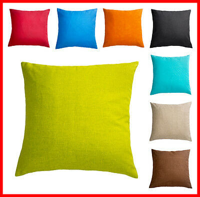 DECORATIVE Cushion Covers LUXURY HEAVY WEIGHT FABRIC Plain Cotton NEW AMAZING!!!