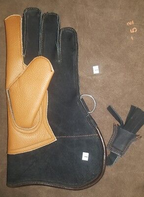 Nubuck Leather Double Skinned Falconry Glove 12 Inches Long Standard Size New.