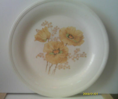 Vtg Semi Vitreous Edwin M Knowles China Co Floral Dinner Plate 40-7 Yellow