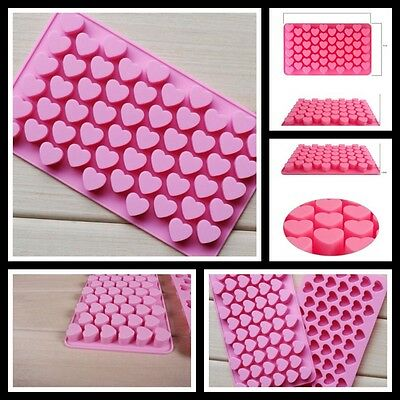 Silicone Mini Heart Chocolate Soap Ice Mould Eco-friendly Durable With 55 Hearts