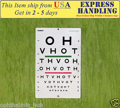 HOTV Ophthometric Chart with Red/Geen Lines 20 Ft, Worldwide Shipping, HLS EHS