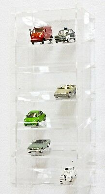 SORA Model Car Display Tower 1/43, Back-Panel: Transparent, For up to 18 Cars