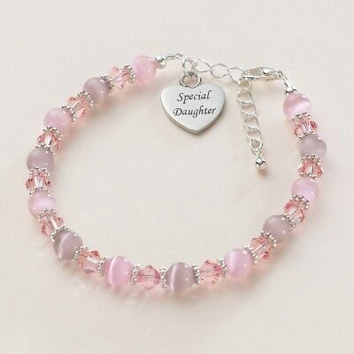 Girls Bracelet with Engraving, Personalised with any Words, Names. High Quality