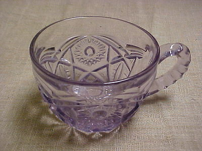 Vintage Early 1900's McKee Glass Pale Lavender Purple Punch Cup Geometric #2