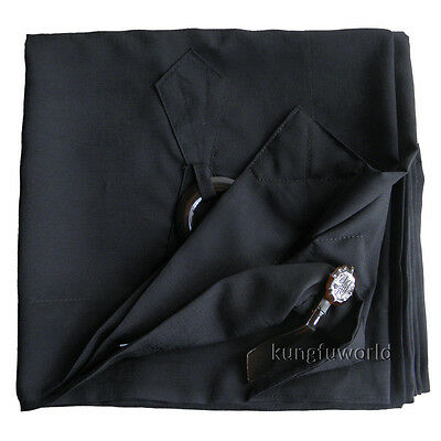 Buddhist Monk Dress Black Color Manyi Kesa Robe Meditation Suit Cassock