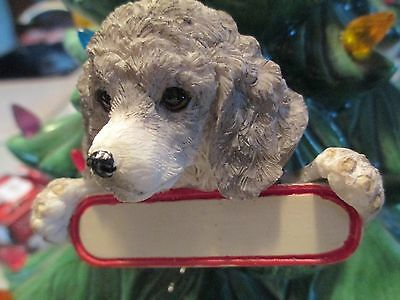 Poodle ~ Silver  Puppy ~ Ornament  # 70A