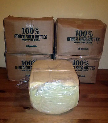 5 LBS Raw SHEA BUTTER Unrefined Organic White Ivory Pure Premium Quality