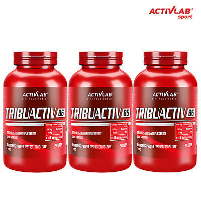 TRIBUACTIV B6 - Testosterone Booster Hormone Support Muscle Growth Bodybuilding