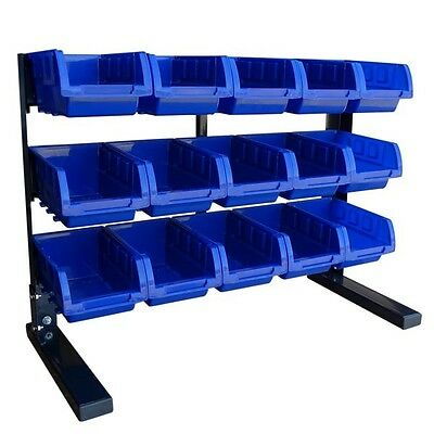 Parts / Hardware / Tool Storage Rack with 15 Removable Bins