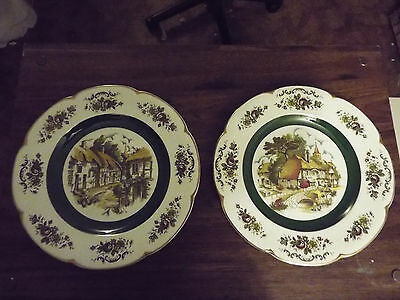 2 Vintage Display Plates from Woods and Son England