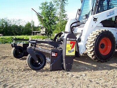 "Skid Steer Soil Conditioner - The Harley Rake 90"" - Manual Angle"