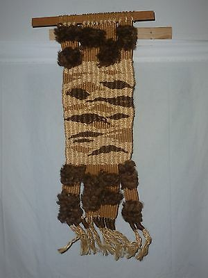Vintage 1970's Handmade Macrame Wall Hanging  One of a Kind retro hippie