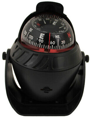 BOAT COMPASS BLACK ✱ 12v Illuminated LED Light ✱ CAR CARAVAN MARINE TRUCKS NEW