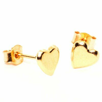 Heart Stud Earring 5mm appx –  9ct Gold