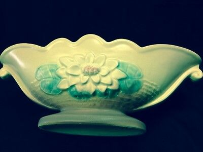 """Hull Pottery Console Bowl #l-21-13 1/2"""""""