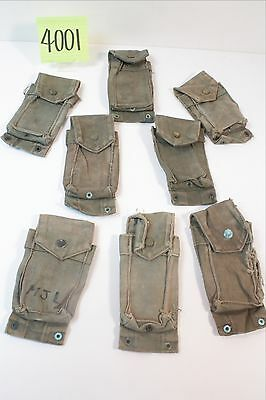 Vietnam USMC Single Cell Ammo Pouches-- Used to Fair Condition