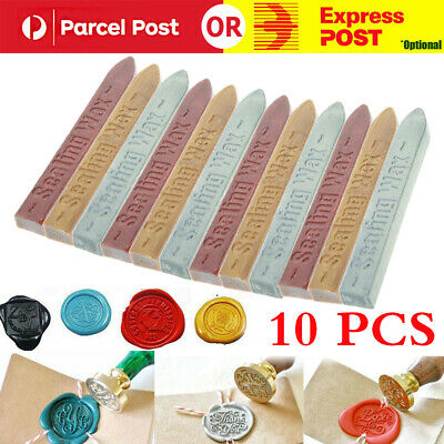 Set of 10pcs Wax Seal Sealing Stick Stamp for Letters Wedding Invitation Gift OZ