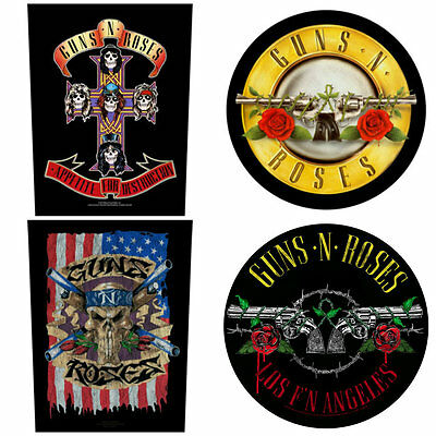 GUNS N ROSES Sew On Back Patch/Patches NEW OFFICIAL. Choice of 4 designs